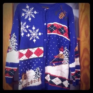 Ugly Christmas Sweater size Small Christopher Bank